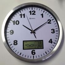 Relógio Parede Silencioso Termômetro Higrômetro Herweg 6413