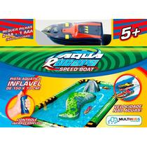 Aqua Racers Lancha E Pista Inflavel