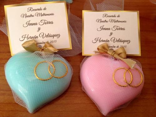 Jabones artesanales corazon con enlace para bodas 690 - Como hacer esencias para jabones ...