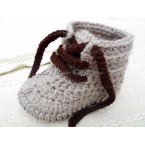 Escarpines Botas Zapatillas Tejido Crochet Lanegracreaciones
