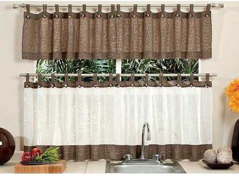 Cortinas de cocina avellana a botones vianney for Decoracion cortinas cocina
