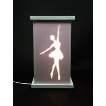 Luminária Bailarina Quarto De Menina Ballet Abajur Dança