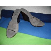 No Limpia De Closet Zapatillas,sandalia Grises Corte Vacuno