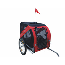 Carro Para Perro Mdog Mk0062a Comfy Pet Bike Trailer - Red