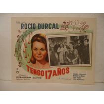 Rocío Durcal , Tengo 17 Años , Cartel De Cine