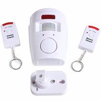 Kit Alarme Sem Fio Sensor Presença Movimento E 2 Controles