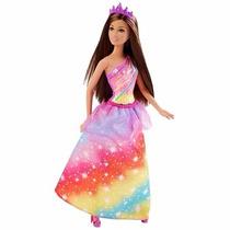 Boneca Barbie Princesa Reino Mágico Morena Mattel Dhm49