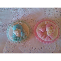 10souvenir Nacimiento Baby Shower Con Imán En Porcelana Fria