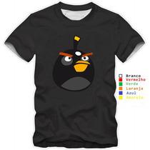 Camisa Camiseta Angry Birds Varios Modelos Confira Algodão