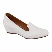 Zapatos Blancos Tipo Mocasin Tacón Dra Enfermera Dentista