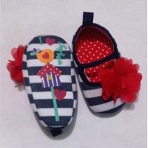 Zapatos Bebe Niña Niño Zapatito Rayas Flor
