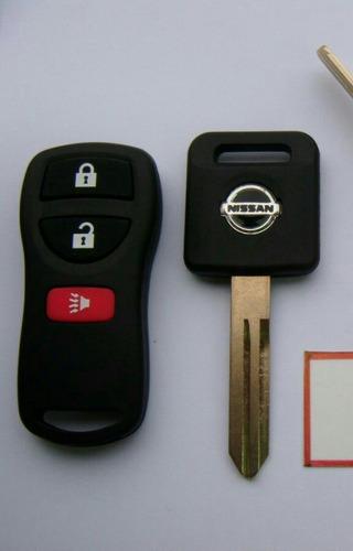 Llave Con Chip Y Control Remoto Nissan Tida Sentra Xtrail ...