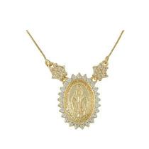 Colar Medalha Milagrosa Nossa Senhora Das Graças C/ Zircônia