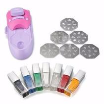 Maquina Para Stamping + Esmaltes+6 Placas Deco Nail Art