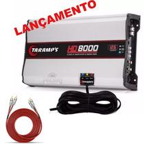 Módulo Taramps Hd-8000 Rms C/ Voltimetro 1 E 2 Ohms Novo+rca
