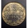 Lia012 Moneda Liberia 1 Dollar 1968 Unc-bu Ayff