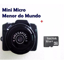 Mini Micro Camera Dv Fimadora Hd 1280p Menor Do Mundo+32gb