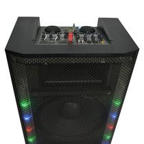 Caixa De Som Ativa +dj System, Mixer+multi Player Tudo Em Um