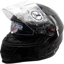 Casco Nitro Doble Visor 2200 Negro Alta Velocidad Fas Motos