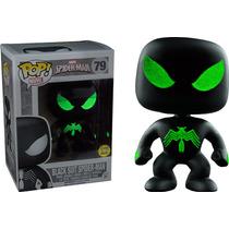 Funko Pop Spiderman Black Suit Glow Especial Brilla Marvel
