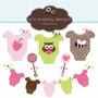Kit Imprimible Baby Shower Nena 7 Imagenes Clipart