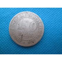Moeda Brasil 100 Reis 1870 Niquel Antiga