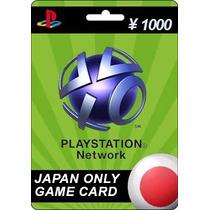Tarjeta Gift Card Playstation Network Japon 1000 Yen Ps4 Ps3