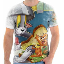 Camiseta Do Tom E Jerry,desenho Animado,estampada 1