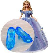 Sapato Azul Cristal Para Barbie * Sapatinho Cinderela Filme
