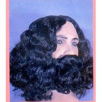 Disfraz De Jesus O Rey Mago Con Peluca, Bigote Barba