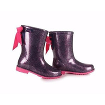 Bota Borracha Galocha Infantil Barbie Chuva Power 21390