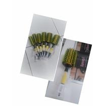 Kit Com 3 Escovas Profissionais Cabeleireiro Modelo Evas