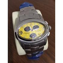 Relógio Ferrari Ma8118 - Amarelo C/ Preto + Nota Fiscal