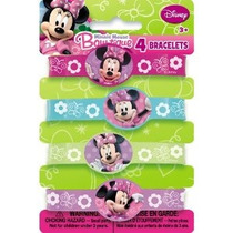 Pulseras De Goma Minnie Mouse 4ct