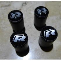 Volkswagen R-line Válvulas Para Rodas Conj.4 Tampinhas Rline