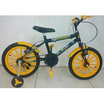 Bicicleta Infantil Aro 16 Masculino Batman Vip Bikes
