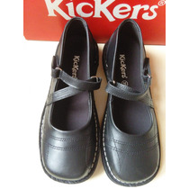 Zapatos Escolares Kickers Originales Talla 35