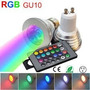 Lampara Led Gu10 Rgb C/ Control Remoto 16 Colores