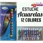 Estuche De Acuarelas.12 Colores De 9ml