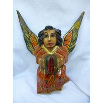 Mascara Tallada En Madera Angel Artesania M18