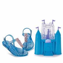 Sandália Infantil Disney Frozen Com Brinde Castelo Clique+