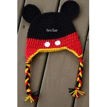 Gorros Tejidos Mickey Y Minnie- Recien Nacid. Bebe- Niños .