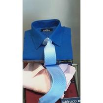 Camisas De Vestir Mónaco. T38 Al 46 Y 48/50 10% Más