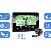 Gps Multilaser Tracker 4.3 Tv Digital + Camera De Re Auto