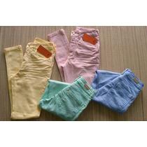 Calça Jeans Skinny Lycra Feminina Colorida Cintura Alta