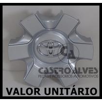 Calota Tampa Roda Toyota Hilux Sw4 Srv 2006 A 2012 Prata