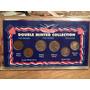 1 Set Con 6 Monedas Dolar De Coleccion Doble Diseño Anual.