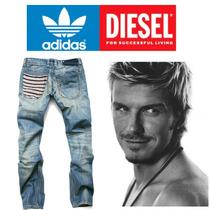 Calça Jeans Adidas Jogador Famoso + Frete Gratis + Brinde