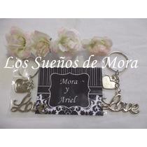Souvenirs Llavero Love Casamiento Bodas Enlace Aniversario