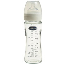 Mamadeira Vidro Natural Glass Chicco Anti Cólica - 240 Ml
